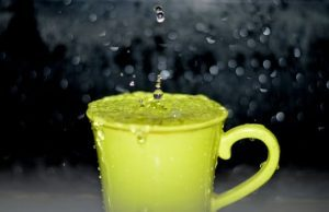 cup overflowing